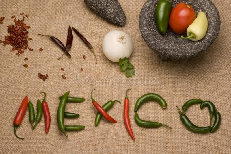 mexikanska kokkonstingredienser royaltyfria bilder