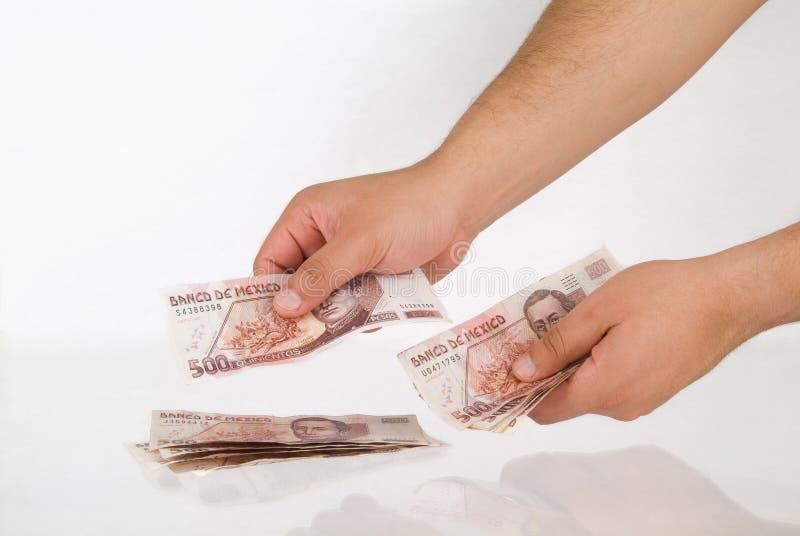mexikanska pesos royaltyfria bilder