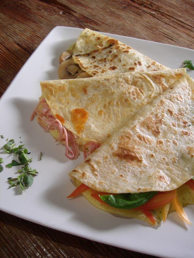 mexikanska quesadillas arkivbild