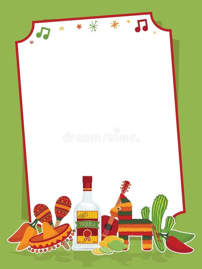 mexikanskt deltagaretecken vektor illustrationer