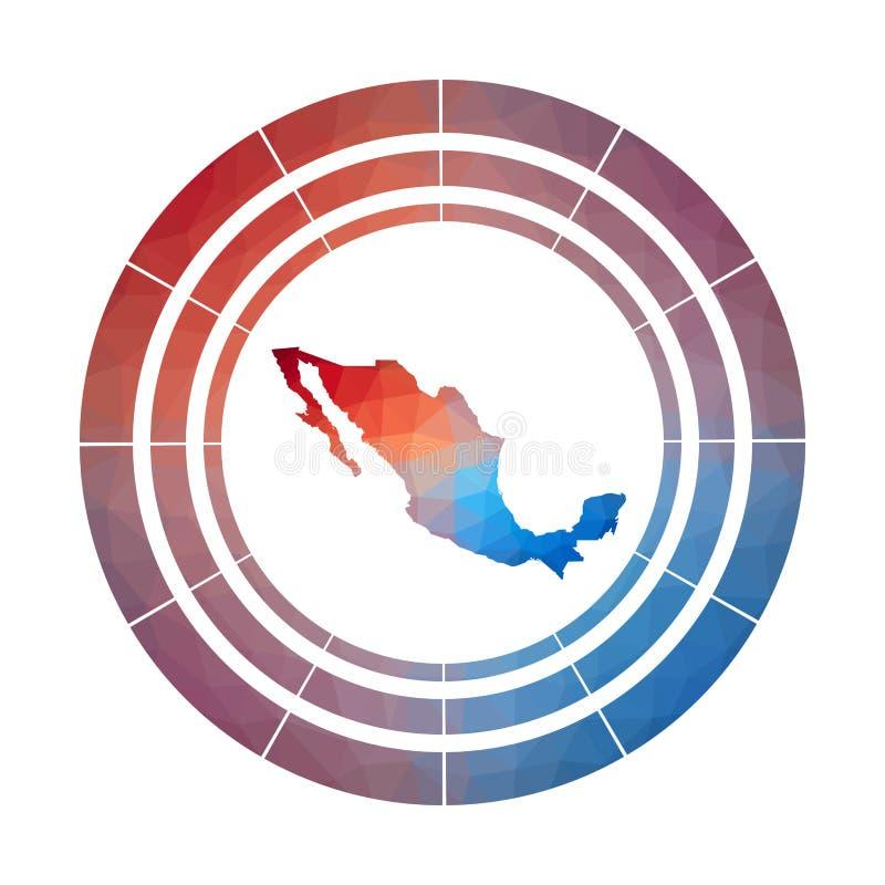 Mexiko-Ausweis lizenzfreie abbildung