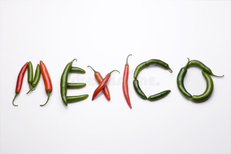 Mexiko, chiles serranos stockbilder