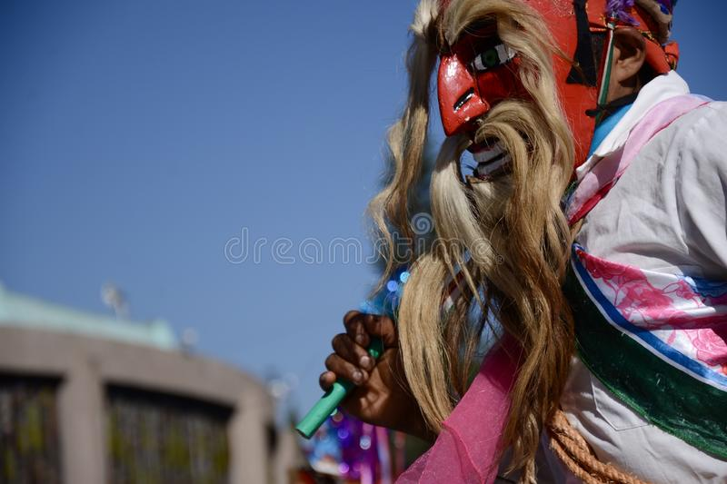 Mexiko City, Mexiko 11. Dezember 2017: Pilger bei Guadalupe Pilgrimage lizenzfreie stockfotografie