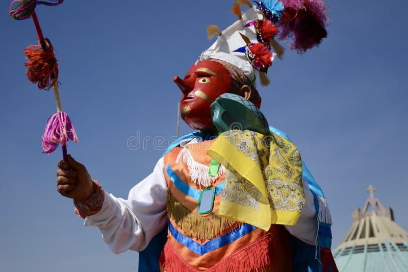 Mexiko City, Mexiko 11. Dezember 2017: Pilger bei Guadalupe Pilgrimage stockbild