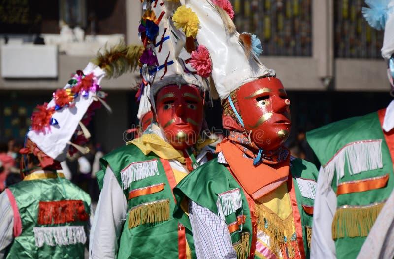 Mexiko City, Mexiko 11. Dezember 2017: Pilger bei Guadalupe Pilgrimage stockfotografie