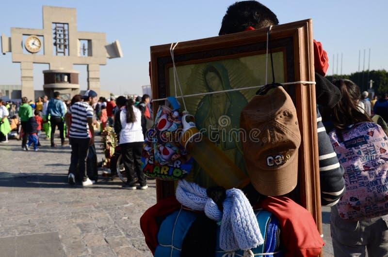 Mexiko City, Mexiko 11. Dezember 2017: Pilger bei Guadalupe Pilgrimage lizenzfreies stockfoto