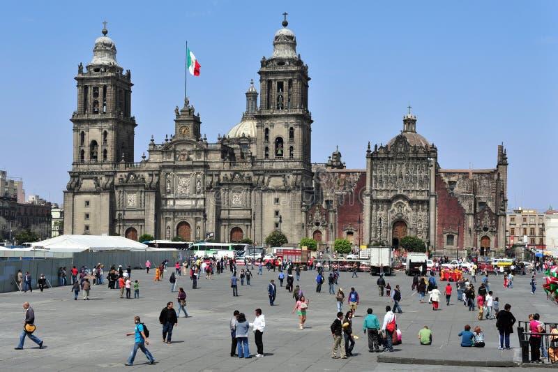 Mexiko- Citygroßstadtbewohner-Kathedrale lizenzfreies stockbild