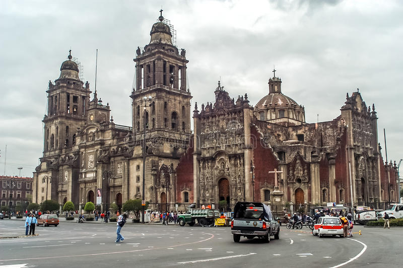Mexiko- Citykathedrale stockbilder