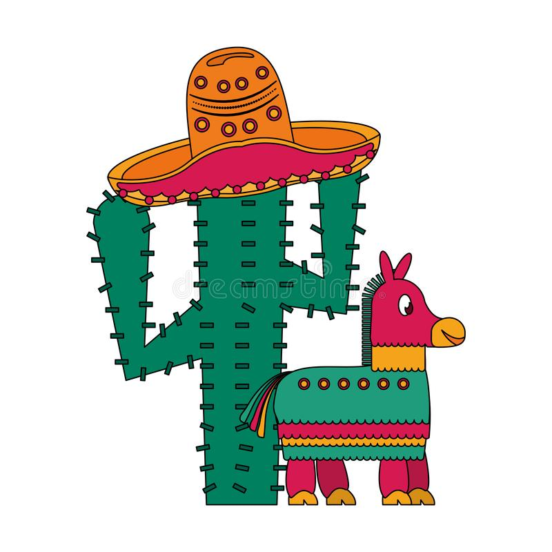 Mexiko-Festival und mexikanische Feierkarikaturen vektor abbildung