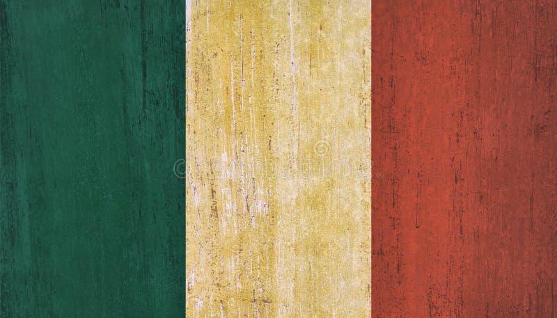 Mexiko-Flaggenhintergrund in der Weinleseart lizenzfreie stockfotografie