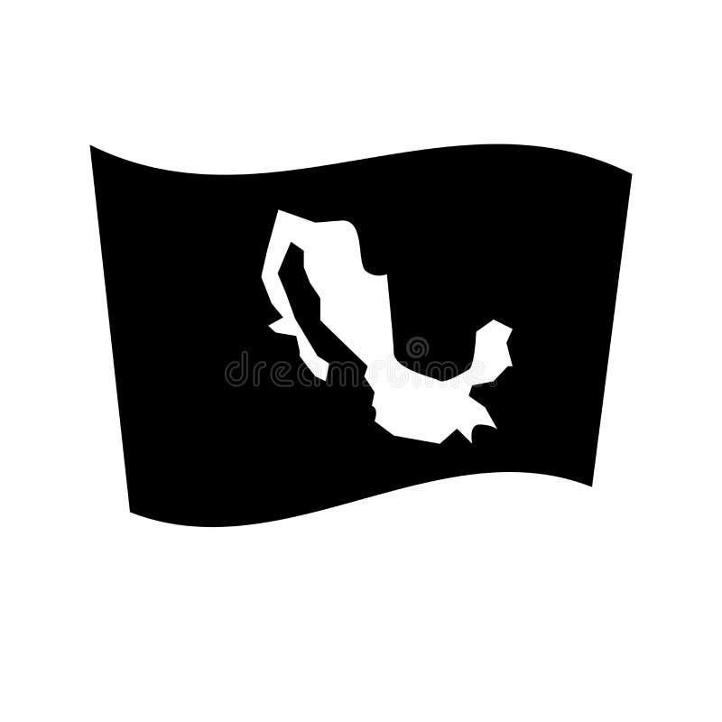 Mexiko-Flaggenikone Modisches Mexiko-Flaggenlogokonzept auf weißem backg lizenzfreie abbildung