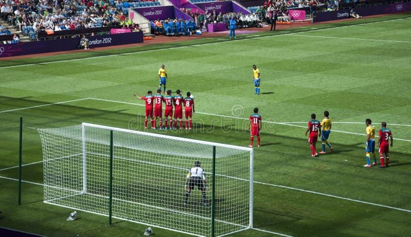 Mexiko gegen Gabun in den Londonolympics 2012 stockfotografie