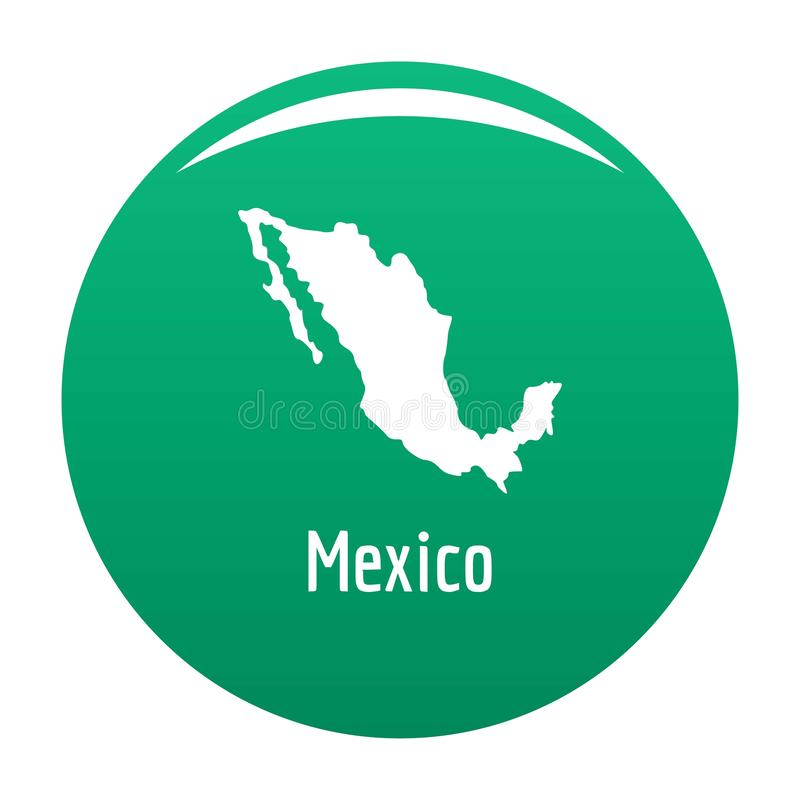 Mexiko-Karte im schwarzen Vektor einfach vektor abbildung
