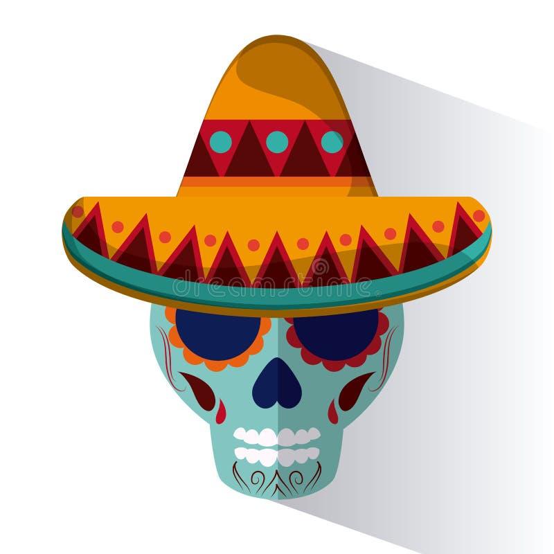 Mexiko-Kulturikonen in der flachen Designart, Vektorillustration vektor abbildung