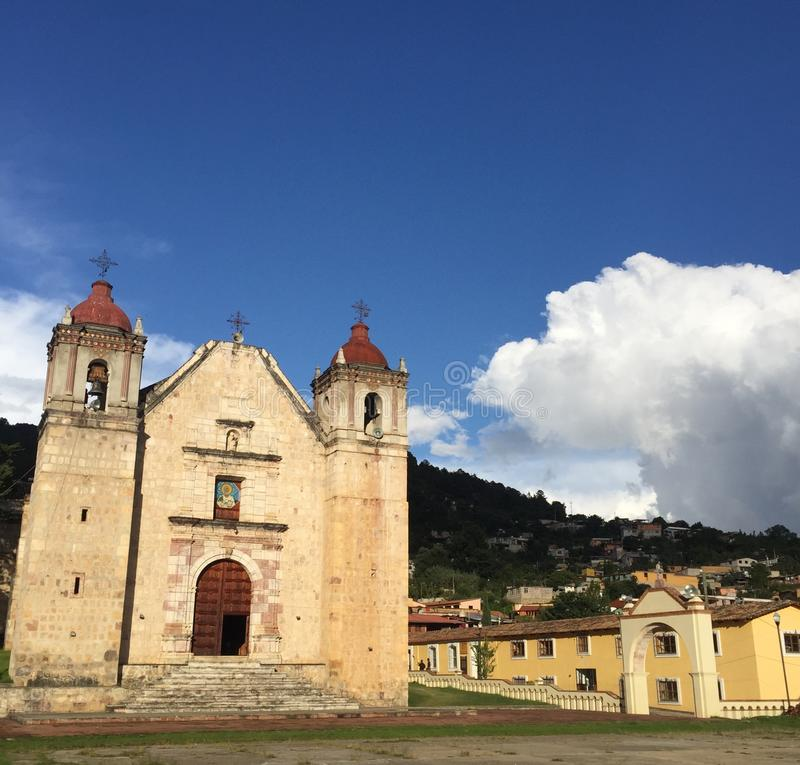 Mexiko magische Town Capulalpam de Mendez lizenzfreies stockbild