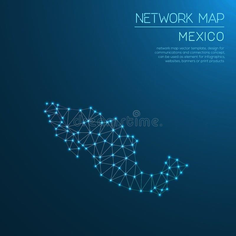 Mexiko-Netzkarte vektor abbildung