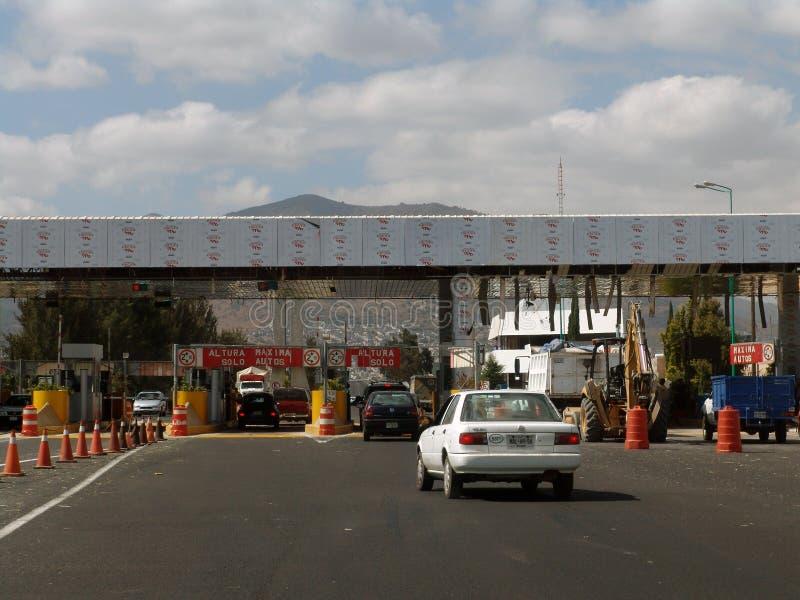 mexiko Veiw von Straßen in Mexiko City Mautstraßepunkt lizenzfreie stockfotografie