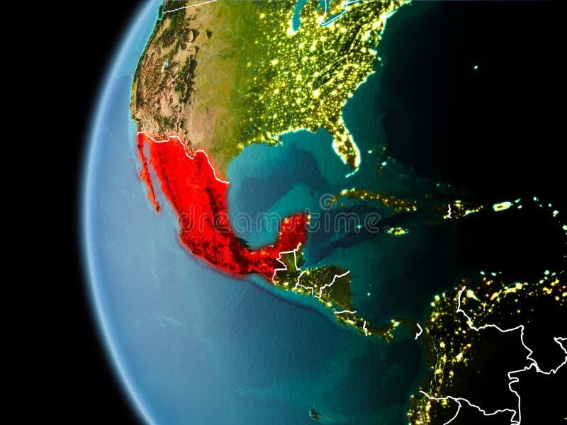 Mexiko vom Raum am Abend lizenzfreie abbildung