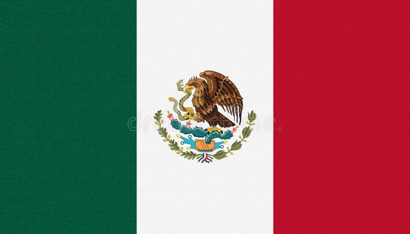 Mexikos flagg Bandera de México Mexikanska förenta stater arkivfoto