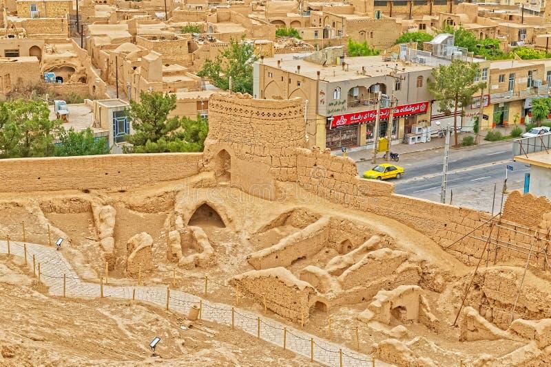 Meybod stadsantenn Iran royaltyfria bilder