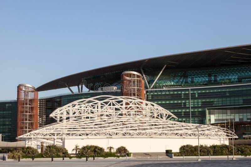 Meydan Racecourse in Dubai. DUBAI, UAE - DEC 13: Meydan Racecourse (former Nad Al Sheba Racecourse) in Dubai. December 13, 2014 in Dubai, United Arab Emirates royalty free stock images