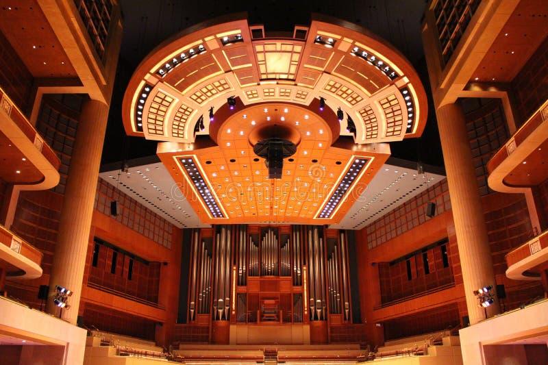 Meyerson symfoni centrum, dom Dallas orkiestra symfoniczna zdjęcie royalty free
