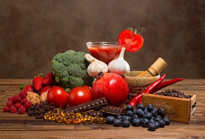 Productos de los antioxidantes foto de archivo libre de regalías