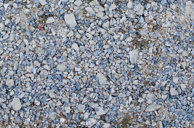 Mezcla de grava en colores blancos y grises azules foto de archivo libre de regalías