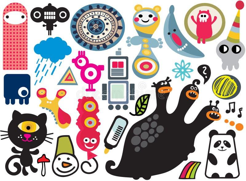 Mezcla de imágenes y de iconos del vector. vol.17 libre illustration