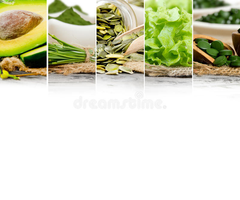 Mezcla de la comida verde fotografía de archivo