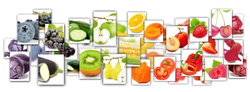 mezcla de la fruta y verdura imagenes de archivo
