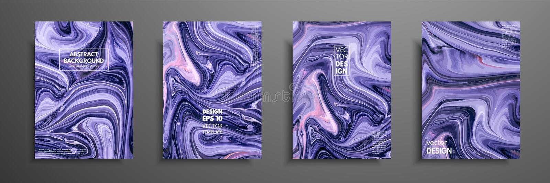 Mezcla de pinturas acrílicas ilustraciones modernas Diseño de moda Pintura de mármol del efecto Diseño dibujado mano gráfica para ilustración del vector