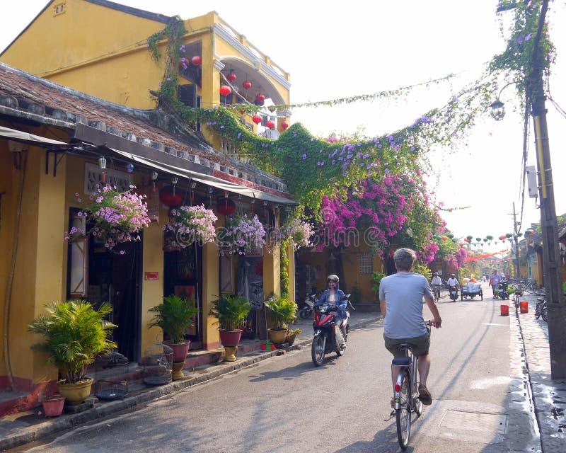 Mezcla de transporte en Hoi An imagen de archivo libre de regalías