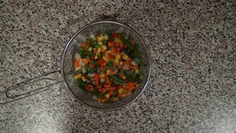 Mezcla de verduras Comida del vegano imágenes de archivo libres de regalías