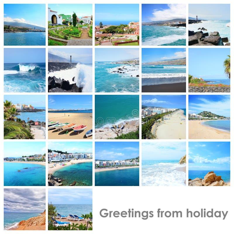 Mezcla del collage con las fotos a partir del día de fiesta foto de archivo libre de regalías