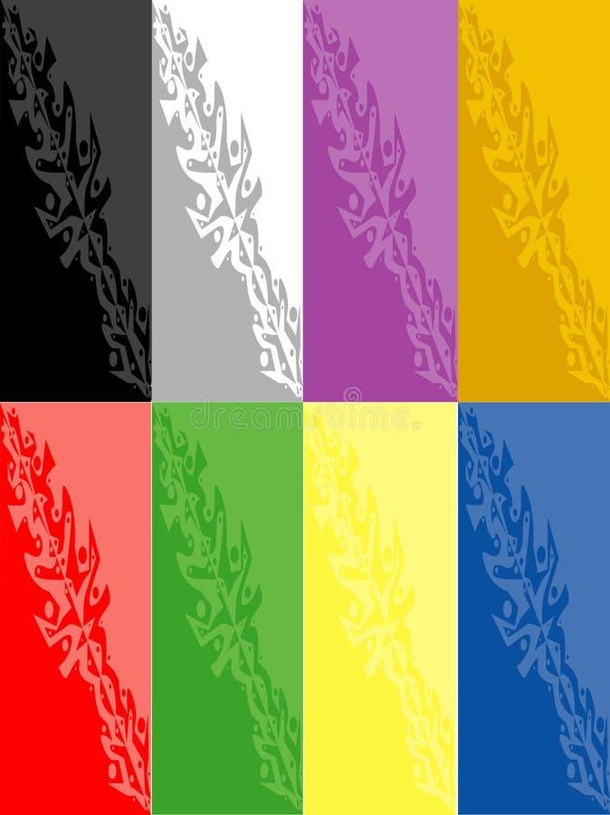 Mezcla del color ilustración del vector