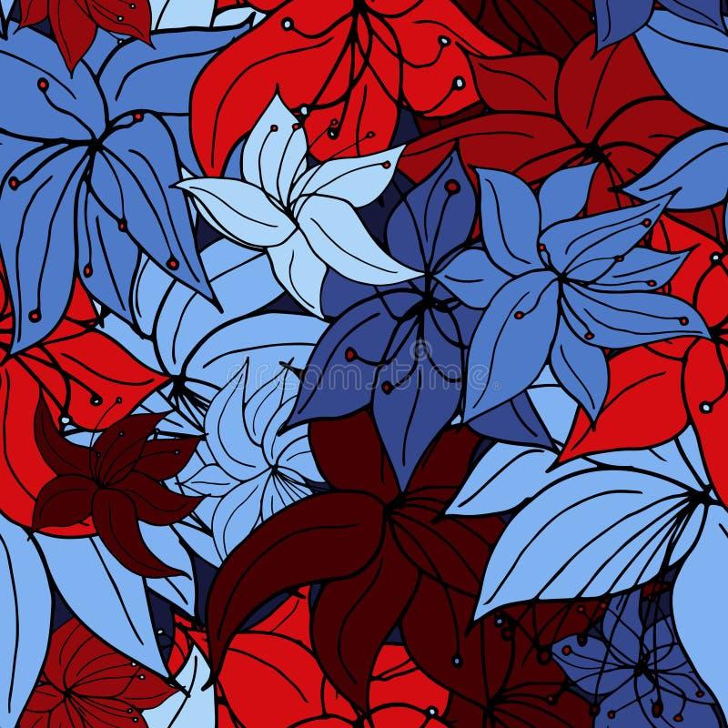 Mezcla del otro mundo brillante de la flor ilustración del vector