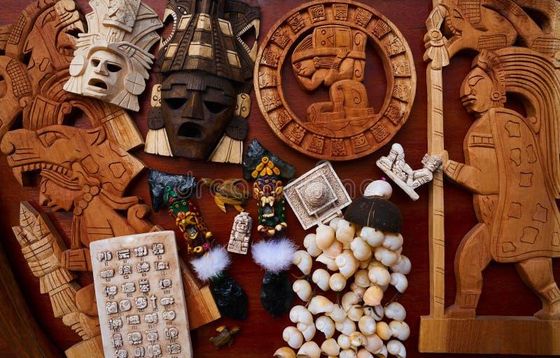 Mezcla mexicana maya de los recuerdos de las artesanías imagen de archivo