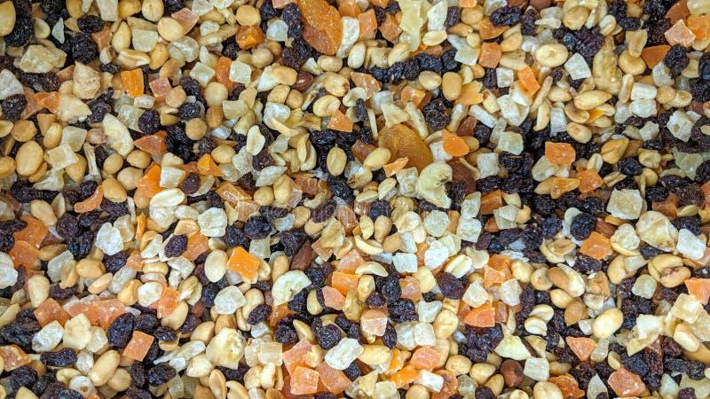 Mezcla seca de la fruta en flojo foto de archivo libre de regalías