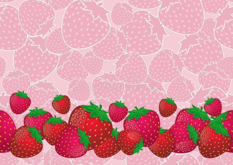 Mezcla y fondo rosado de la fresa, modelo inconsútil de la fresa imágenes de archivo libres de regalías