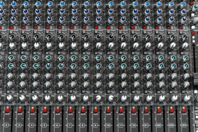 Mezclador audio fotografía de archivo libre de regalías