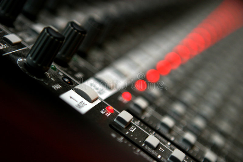 Mezclador audio fotos de archivo