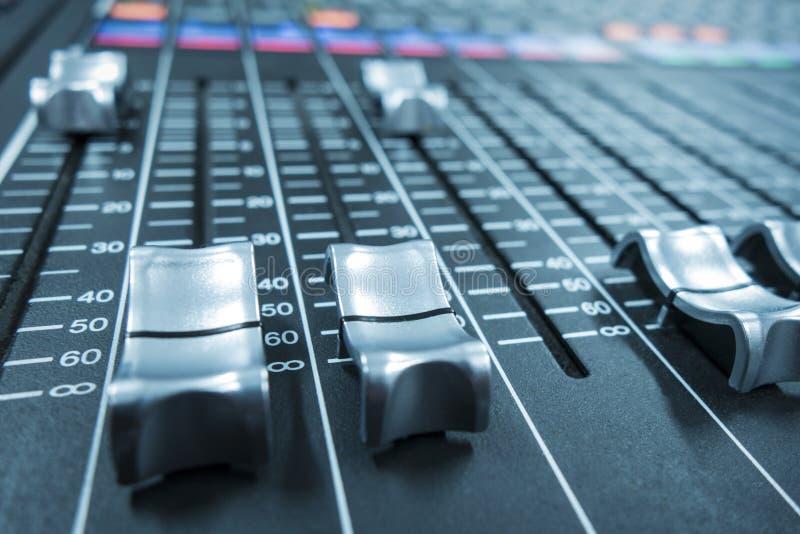 Mezclador audio foto de archivo libre de regalías