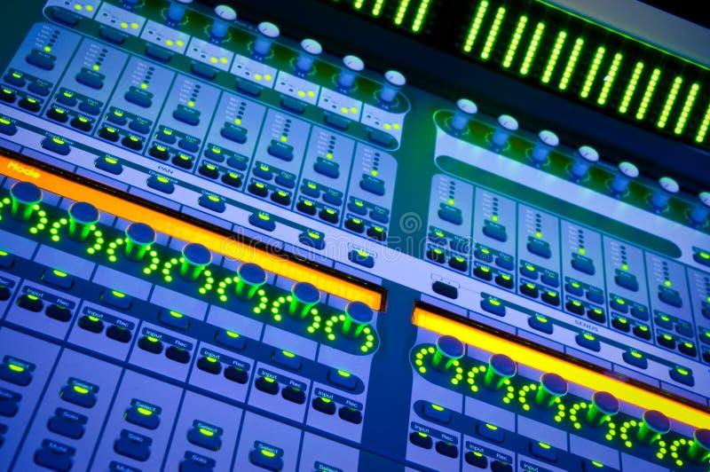 Mezclador audio profesional foto de archivo libre de regalías