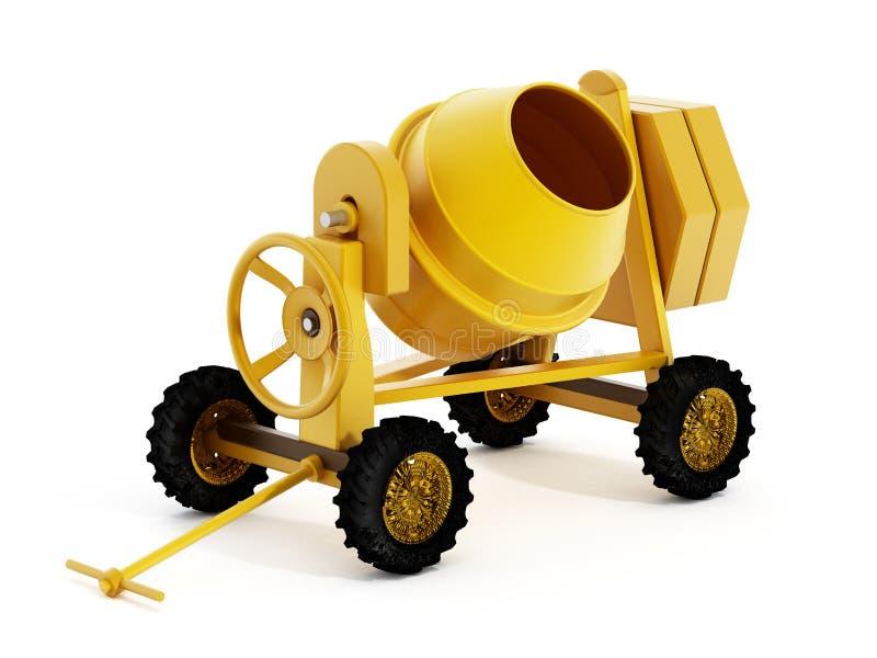 Mezclador concreto amarillo ilustración 3D libre illustration