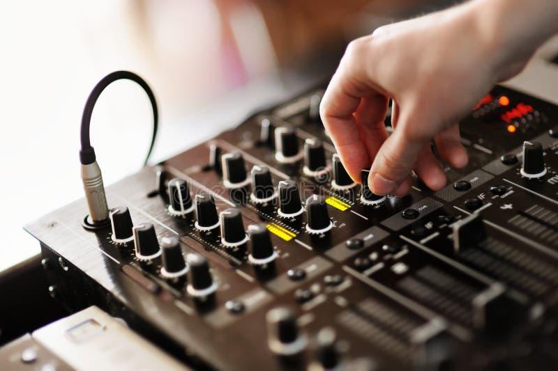 Mezclador de DJ imágenes de archivo libres de regalías