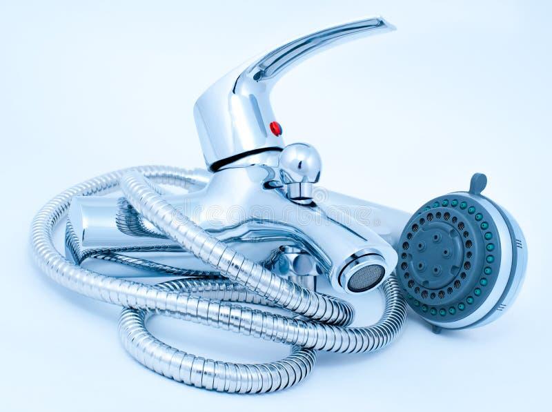 Mezclador de la ducha foto de archivo libre de regalías
