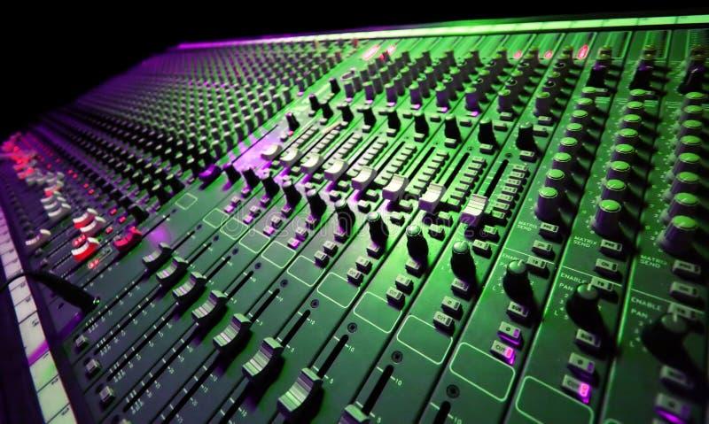 Mezclador de la música fotografía de archivo