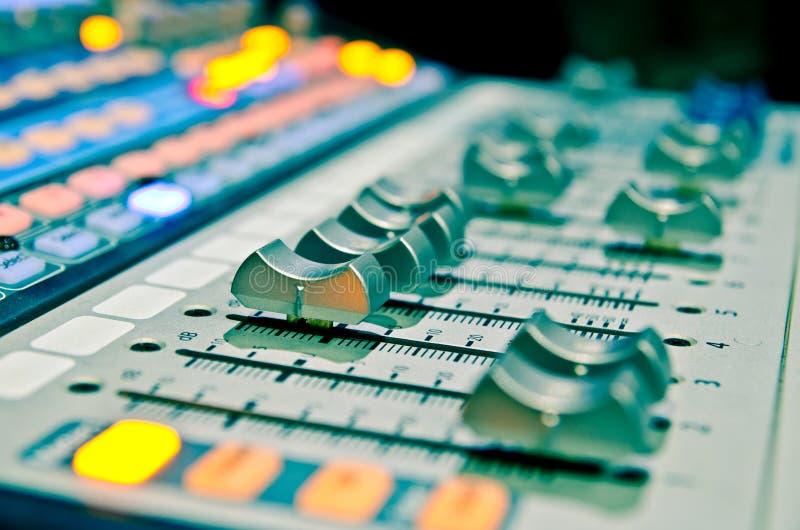 Mezclador 1 de la música fotos de archivo libres de regalías