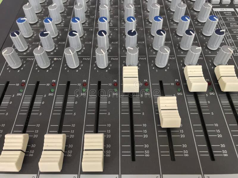 Mezclador de sonidos fotografía de archivo